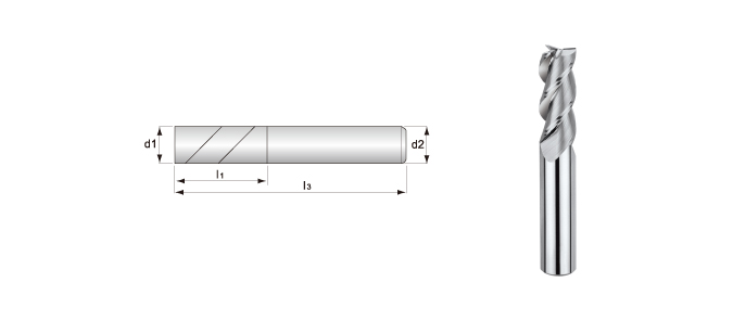 3-flute, Smooth Surface End Mills (for Aluminum Alloys Processing)