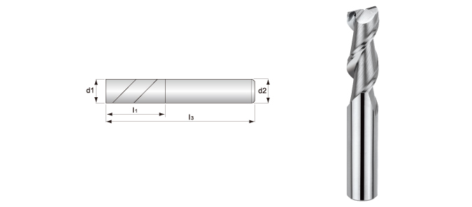 2-flute, Smooth Surface End Mills (for Aluminum Alloys Processing)